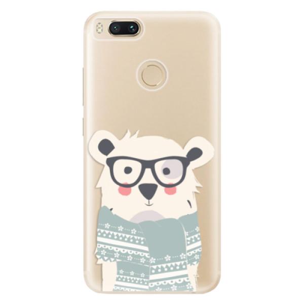 Odolné silikonové pouzdro iSaprio - Bear with Scarf - Xiaomi Mi A1