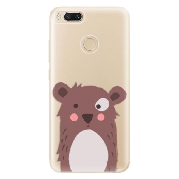 Odolné silikonové pouzdro iSaprio - Brown Bear - Xiaomi Mi A1