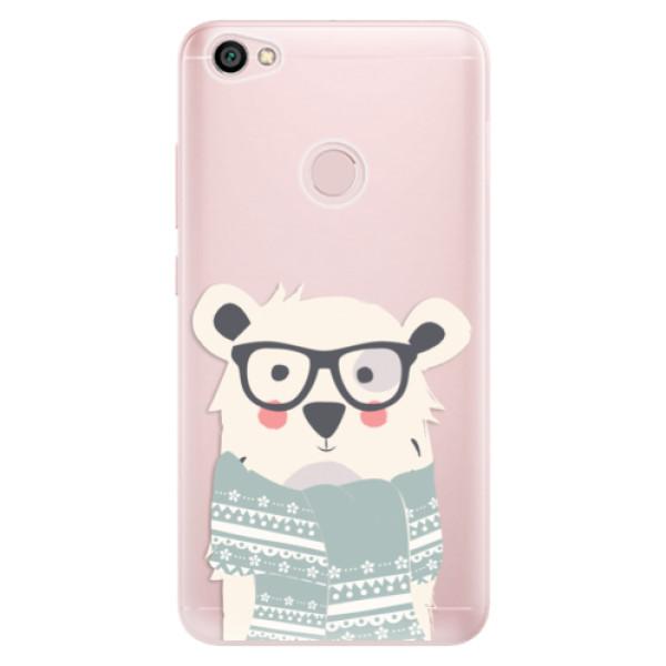 Odolné silikonové pouzdro iSaprio - Bear with Scarf - Xiaomi Redmi Note 5A / 5A Prime
