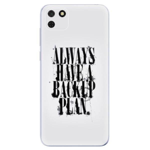 Odolné silikonové pouzdro iSaprio - Backup Plan - Huawei Y5p