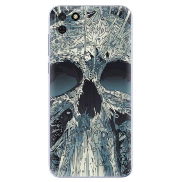 Odolné silikonové pouzdro iSaprio - Abstract Skull - Huawei Y5p
