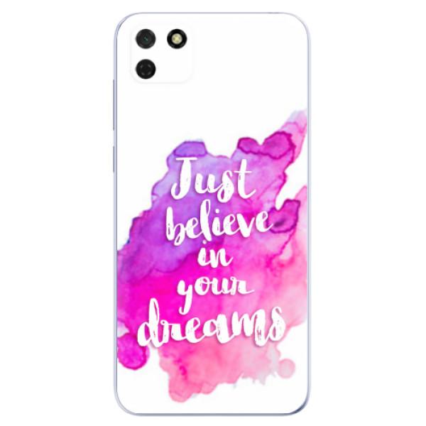 Odolné silikonové pouzdro iSaprio - Believe - Huawei Y5p