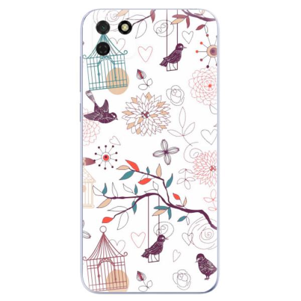 Odolné silikonové pouzdro iSaprio - Birds - Huawei Y5p