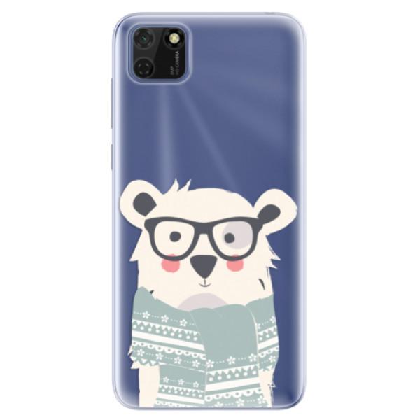 Odolné silikonové pouzdro iSaprio - Bear with Scarf - Huawei Y5p