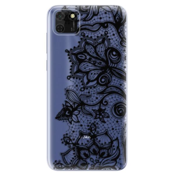 Odolné silikonové pouzdro iSaprio - Black Lace - Huawei Y5p