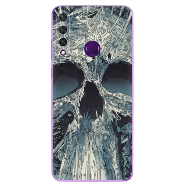 Odolné silikonové pouzdro iSaprio - Abstract Skull - Huawei Y6p