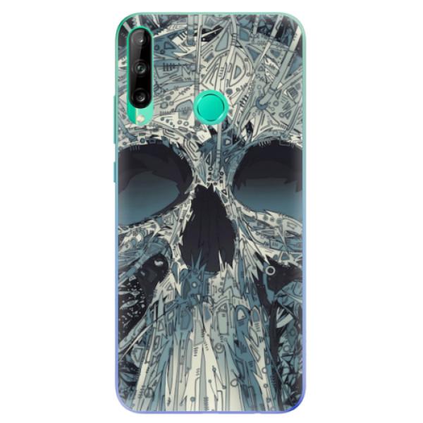 Odolné silikonové pouzdro iSaprio - Abstract Skull - Huawei P40 Lite E