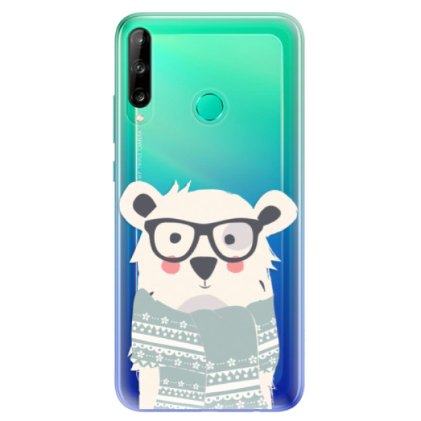 Odolné silikonové pouzdro iSaprio - Bear with Scarf - Huawei P40 Lite E