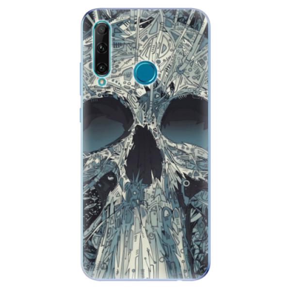 Odolné silikonové pouzdro iSaprio - Abstract Skull - Honor 20e
