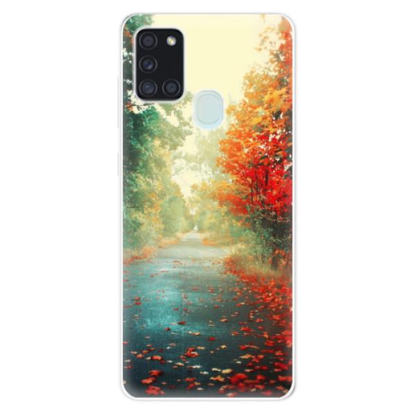 Odolné silikonové pouzdro iSaprio - Autumn 03 - Samsung Galaxy A21s