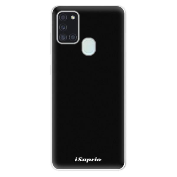 Odolné silikonové pouzdro iSaprio - 4Pure - černý - Samsung Galaxy A21s