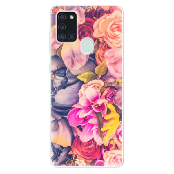 Odolné silikonové pouzdro iSaprio - Beauty Flowers - Samsung Galaxy A21s
