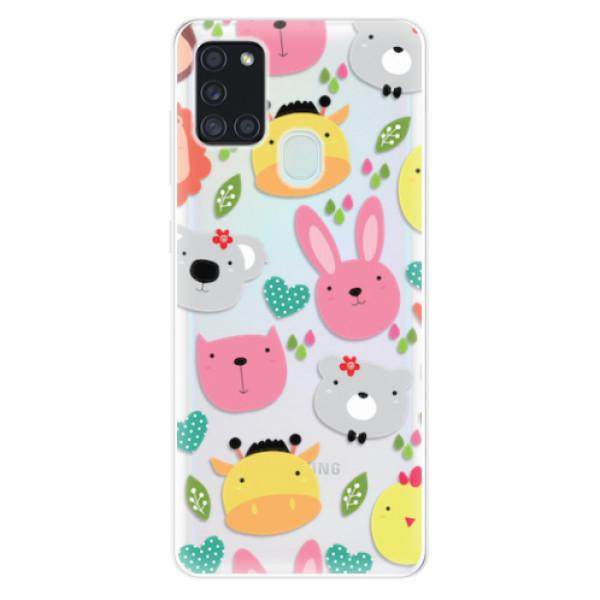 Odolné silikonové pouzdro iSaprio - Animals 01 - Samsung Galaxy A21s