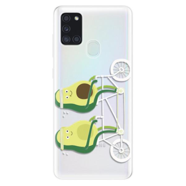 Odolné silikonové pouzdro iSaprio - Avocado - Samsung Galaxy A21s