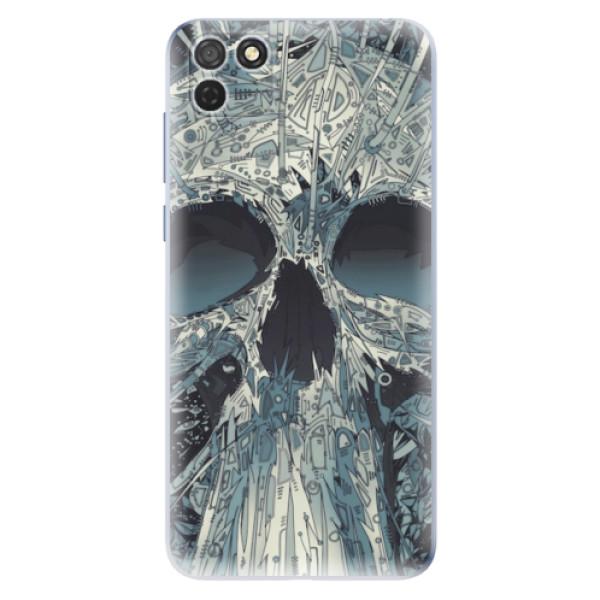 Odolné silikonové pouzdro iSaprio - Abstract Skull - Honor 9S