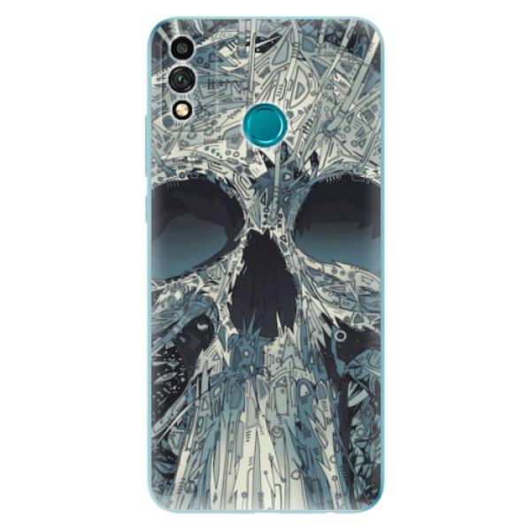Odolné silikonové pouzdro iSaprio - Abstract Skull - Honor 9X Lite