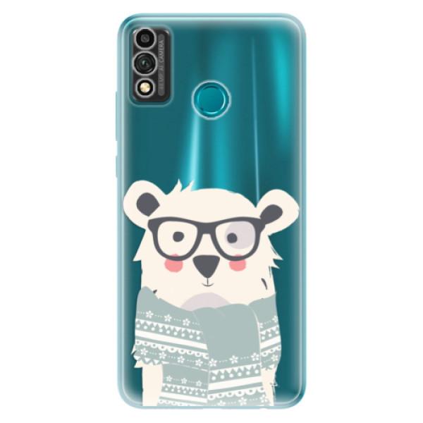 Odolné silikonové pouzdro iSaprio - Bear with Scarf - Honor 9X Lite