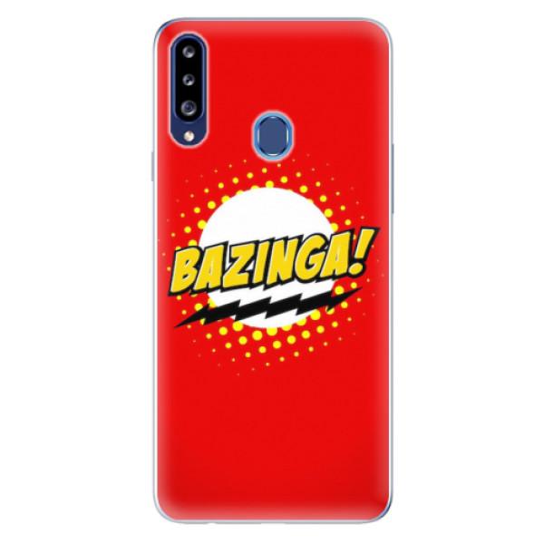 Odolné silikonové pouzdro iSaprio - Bazinga 01 - Samsung Galaxy A20s