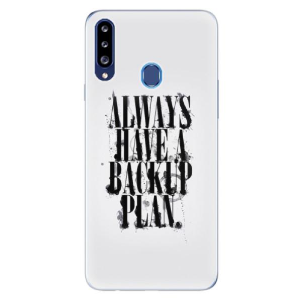 Odolné silikonové pouzdro iSaprio - Backup Plan - Samsung Galaxy A20s