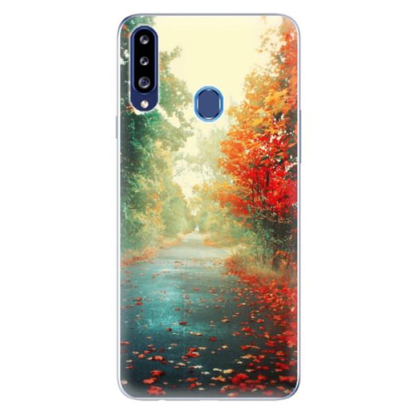 Odolné silikonové pouzdro iSaprio - Autumn 03 - Samsung Galaxy A20s