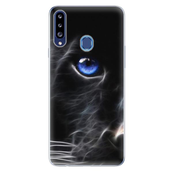 Odolné silikonové pouzdro iSaprio - Black Puma - Samsung Galaxy A20s