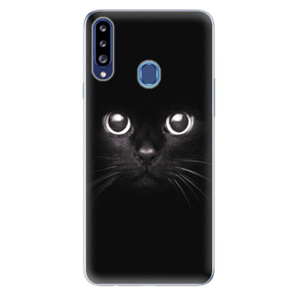 Odolné silikonové pouzdro iSaprio - Black Cat - Samsung Galaxy A20s