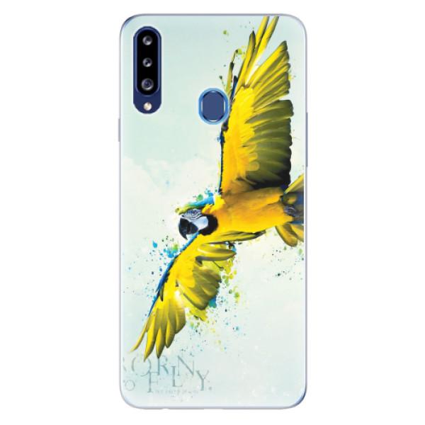 Odolné silikonové pouzdro iSaprio - Born to Fly - Samsung Galaxy A20s