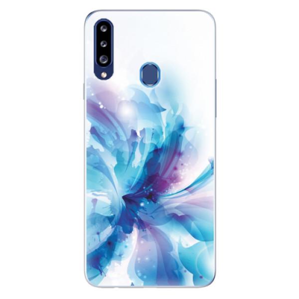 Odolné silikonové pouzdro iSaprio - Abstract Flower - Samsung Galaxy A20s