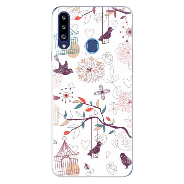 Odolné silikonové pouzdro iSaprio - Birds - Samsung Galaxy A20s