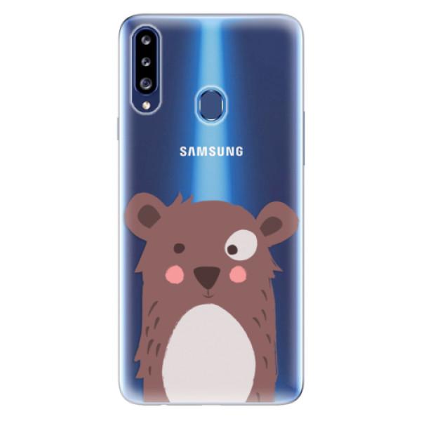 Odolné silikonové pouzdro iSaprio - Brown Bear - Samsung Galaxy A20s