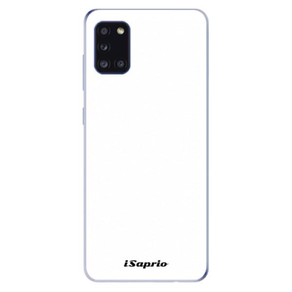 Odolné silikonové pouzdro iSaprio - 4Pure - bílý - Samsung Galaxy A31