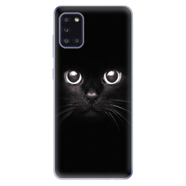 Odolné silikonové pouzdro iSaprio - Black Cat - Samsung Galaxy A31