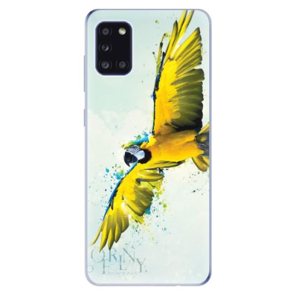 Odolné silikonové pouzdro iSaprio - Born to Fly - Samsung Galaxy A31