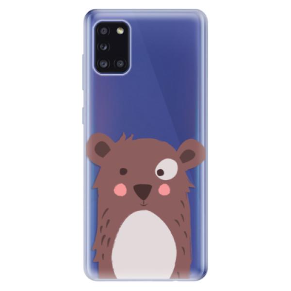 Odolné silikonové pouzdro iSaprio - Brown Bear - Samsung Galaxy A31