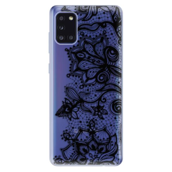 Odolné silikonové pouzdro iSaprio - Black Lace - Samsung Galaxy A31