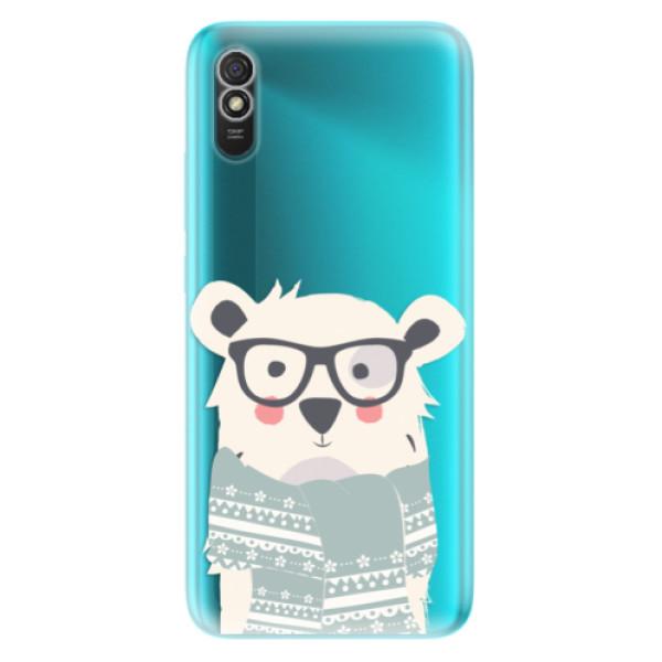 Odolné silikonové pouzdro iSaprio - Bear with Scarf - Xiaomi Redmi 9A