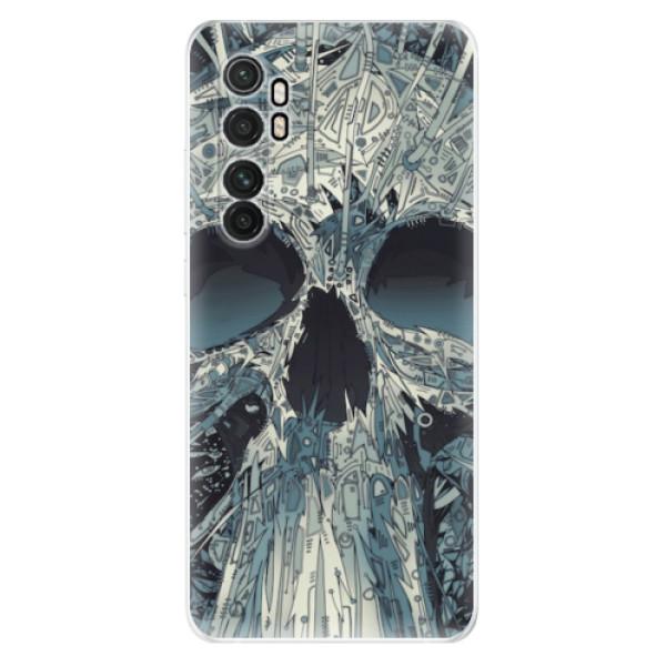 Odolné silikonové pouzdro iSaprio - Abstract Skull - Xiaomi Mi Note 10 Lite