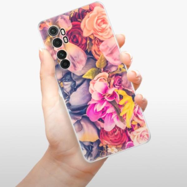 Odolné silikonové pouzdro iSaprio - Beauty Flowers - Xiaomi Mi Note 10 Lite