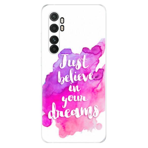 Odolné silikonové pouzdro iSaprio - Believe - Xiaomi Mi Note 10 Lite