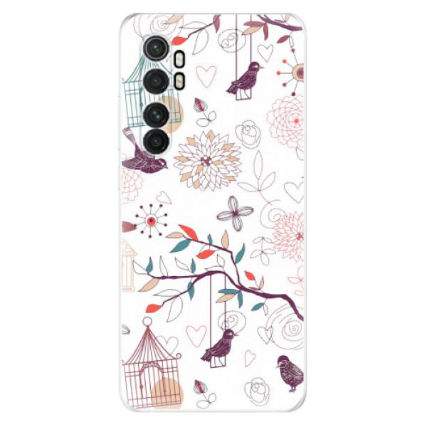 Odolné silikonové pouzdro iSaprio - Birds - Xiaomi Mi Note 10 Lite