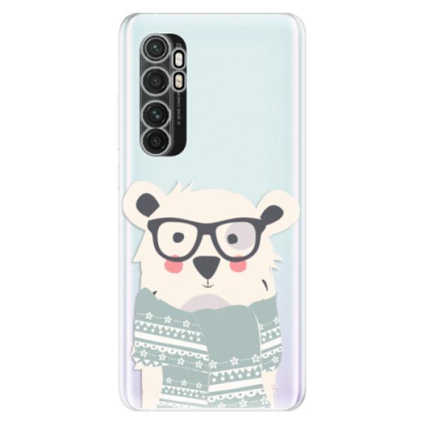 Odolné silikonové pouzdro iSaprio - Bear with Scarf - Xiaomi Mi Note 10 Lite