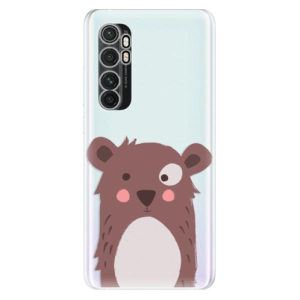 Odolné silikonové pouzdro iSaprio - Brown Bear - Xiaomi Mi Note 10 Lite