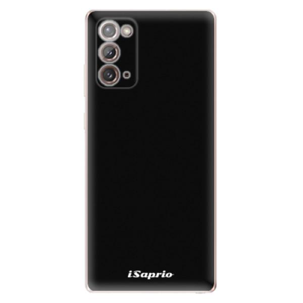 Odolné silikonové pouzdro iSaprio - 4Pure - černý - Samsung Galaxy Note 20