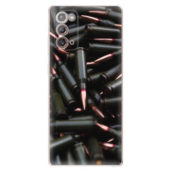 Odolné silikonové pouzdro iSaprio - Black Bullet - Samsung Galaxy Note 20