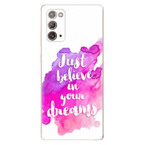 Odolné silikonové pouzdro iSaprio - Believe - Samsung Galaxy Note 20