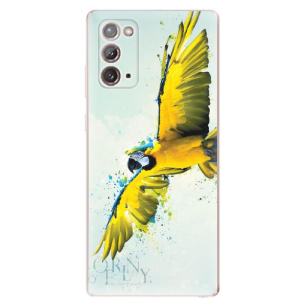 Odolné silikonové pouzdro iSaprio - Born to Fly - Samsung Galaxy Note 20
