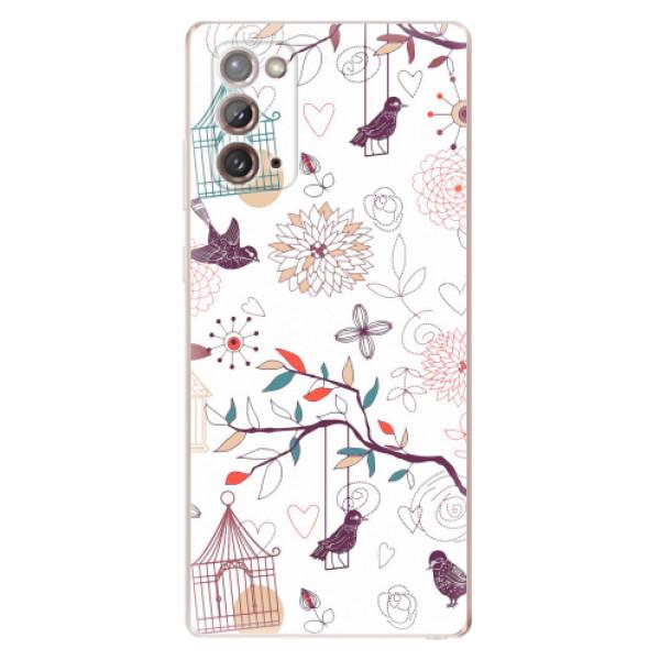 Odolné silikonové pouzdro iSaprio - Birds - Samsung Galaxy Note 20