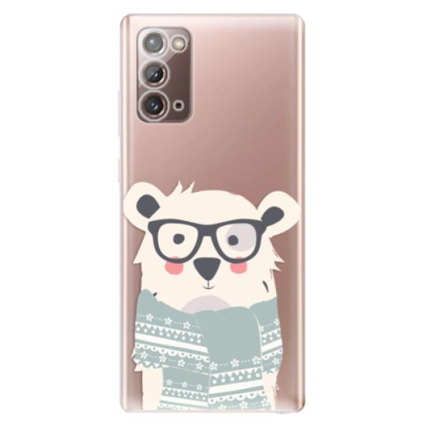 Odolné silikonové pouzdro iSaprio - Bear with Scarf - Samsung Galaxy Note 20