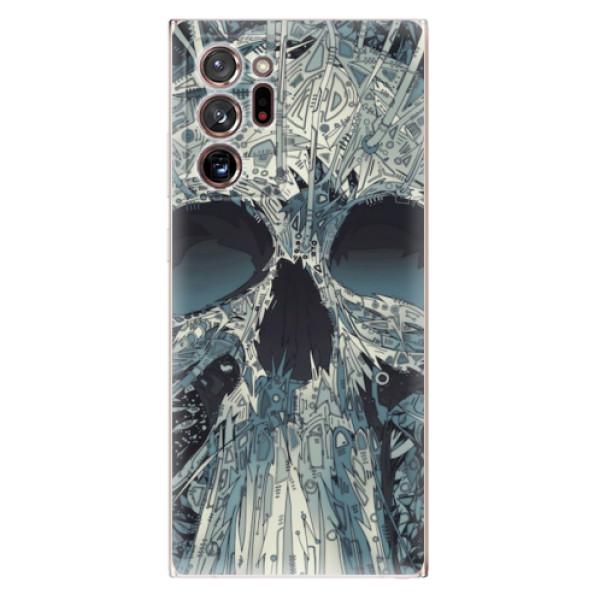Odolné silikonové pouzdro iSaprio - Abstract Skull - Samsung Galaxy Note 20 Ultra