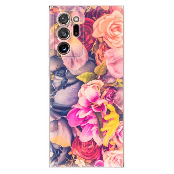 Odolné silikonové pouzdro iSaprio - Beauty Flowers - Samsung Galaxy Note 20 Ultra